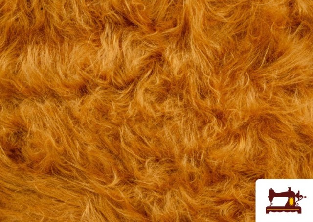 Acheter en ligne Tissu à Poil Long de Couleurs couleur Moutarde