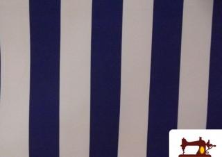 Tissu à Rayures Bleues Type Store
