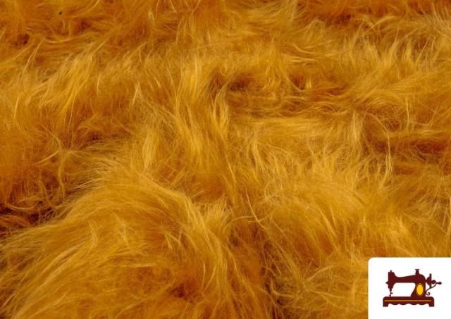 Tissu à Poil Long de Couleurs couleur Moutarde