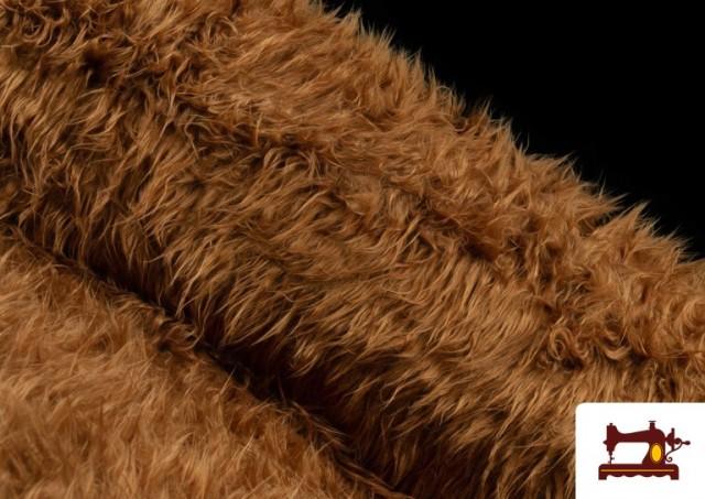 Tissu à Poil Long de Couleurs couleur Bronzé