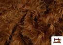 Acheter en ligne Tissu à Poil Long de Couleurs couleur Bronzé