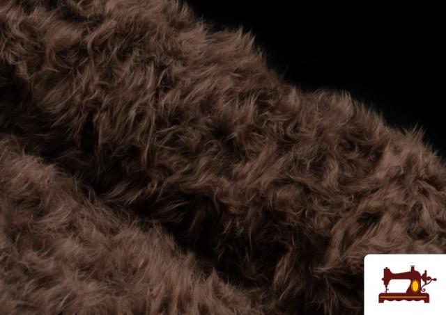 Tissu à Poil Long de Couleurs couleur Brun