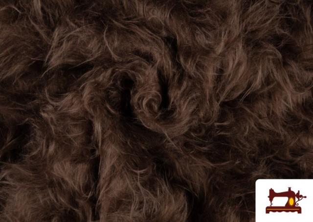 Vente de Tissu à Poil Long de Couleurs couleur Brun