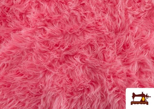 Tissu à Poil Long de Couleurs couleur Rosé