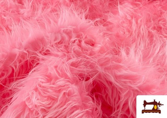 Vente de Tissu à Poil Long de Couleurs couleur Rosé