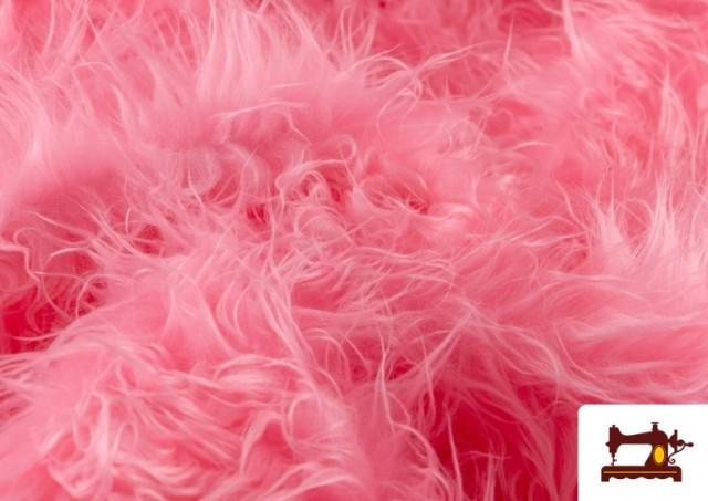 Acheter en ligne Tissu à Poil Long de Couleurs couleur Rosé
