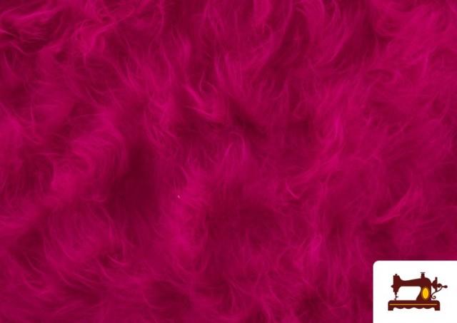Tissu à Poil Long de Couleurs couleur Fuchsia