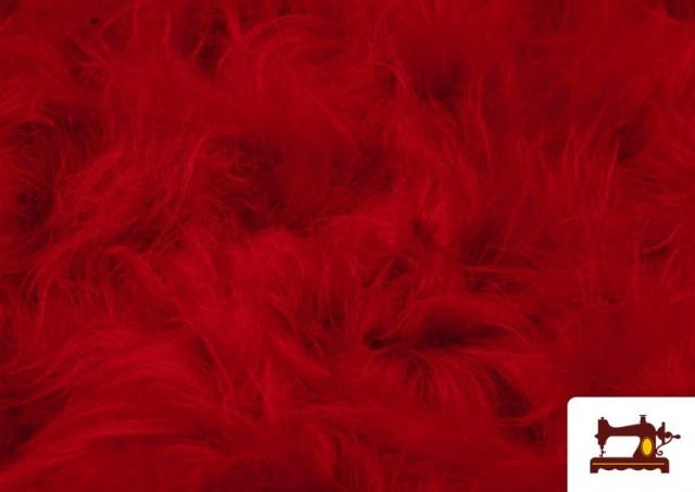 Acheter Tissu à Poil Long de Couleurs couleur Rouge