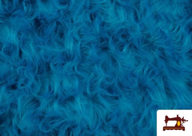 Vente en ligne de Tissu à Poil Long de Couleurs couleur Bleu turquoise
