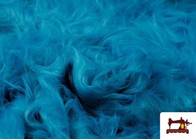 Tissu à Poil Long de Couleurs couleur Bleu turquoise