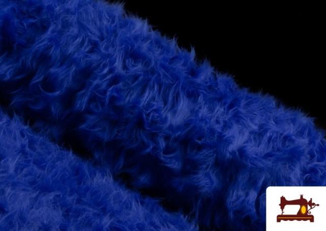 Acheter Tissu à Poil Long de Couleurs couleur Gros bleu