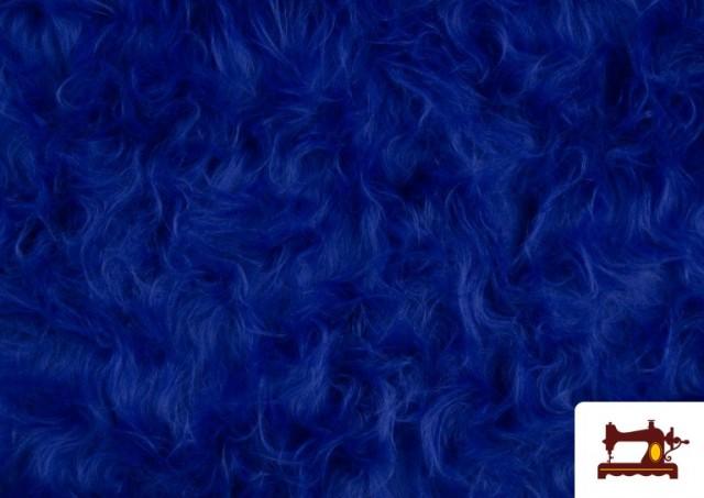 Acheter en ligne Tissu à Poil Long de Couleurs couleur Gros bleu