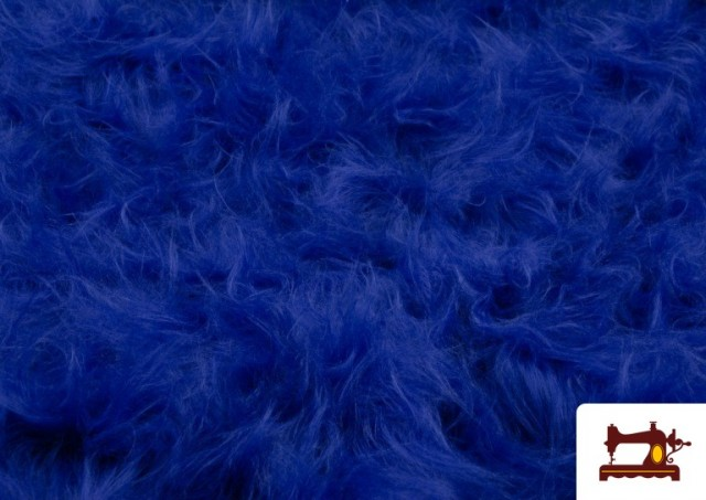 Tissu à Poil Long de Couleurs couleur Gros bleu