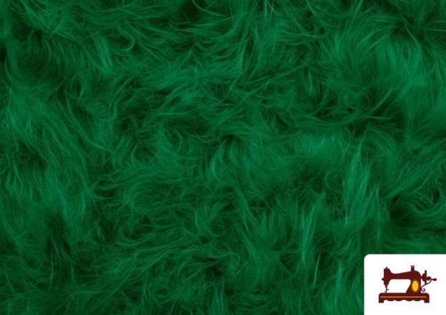Vente de Tissu à Poil Long de Couleurs couleur Vert