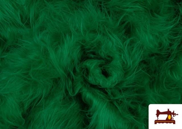 Acheter en ligne Tissu à Poil Long de Couleurs couleur Vert
