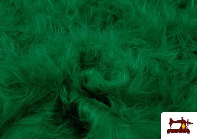 Vente en ligne de Tissu à Poil Long de Couleurs couleur Vert