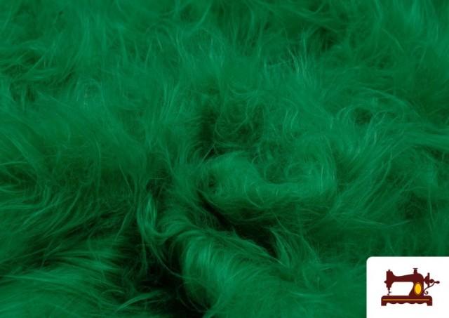 Tissu à Poil Long de Couleurs couleur Vert