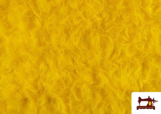 Tissu à Poil Long de Couleurs couleur Jaune