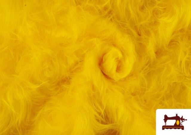 Acheter en ligne Tissu à Poil Long de Couleurs couleur Jaune