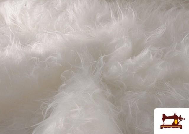 Vente de Tissu à Poil Long de Couleurs couleur Blanc