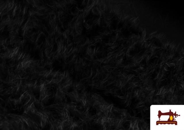 Acheter en ligne Tissu à Poil Long de Couleurs couleur Noir
