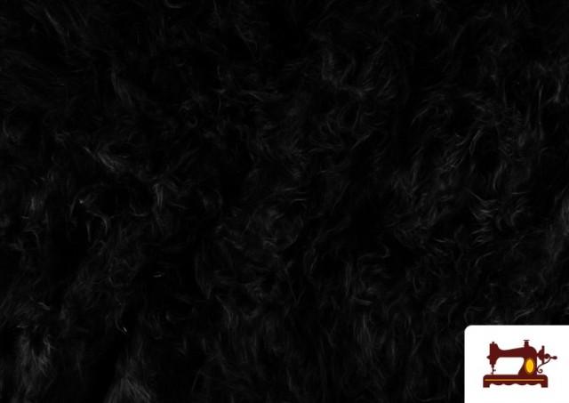 Tissu à Poil Long de Couleurs couleur Noir