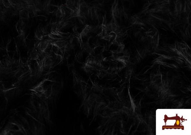 Acheter Tissu à Poil Long de Couleurs couleur Noir
