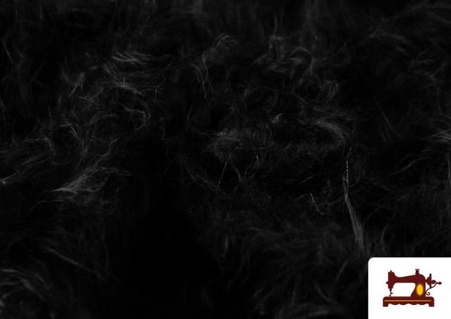 Vente de Tissu à Poil Long de Couleurs couleur Noir