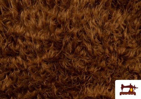 Vente de Tissu à Poil Long Marron pour Costume Animal couleur Brun