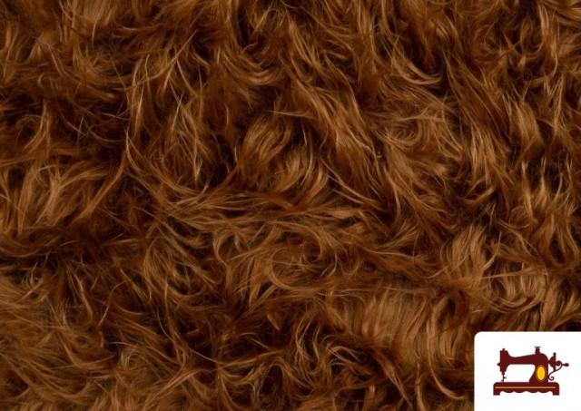 Acheter en ligne Tissu à Poil Long Marron pour Costume Animal couleur Brun