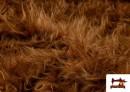 Tissu à Poil Long Marron pour Costume Animal couleur Brun