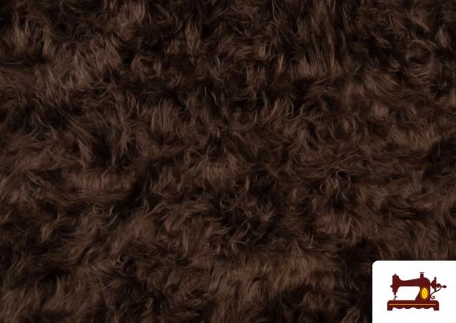 Acheter Tissu à Poil Long Marron pour Costume Animal couleur Bronzé