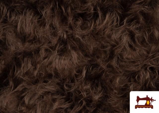 Vente de Tissu à Poil Long Marron pour Costume Animal couleur Bronzé