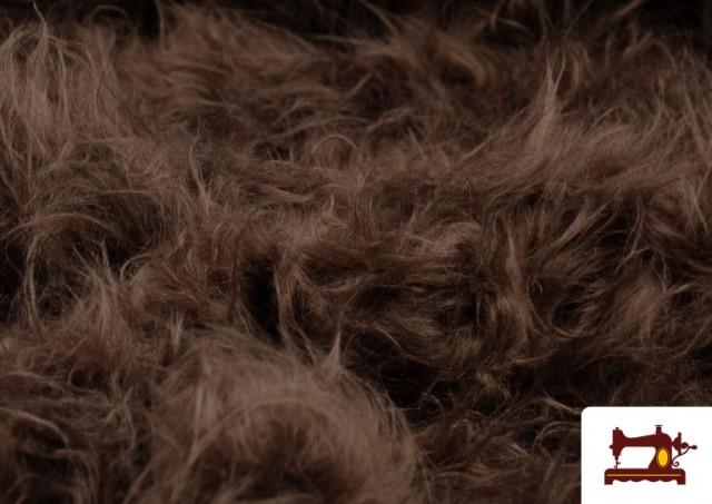 Tissu à Poil Long Marron pour Costume Animal couleur Bronzé