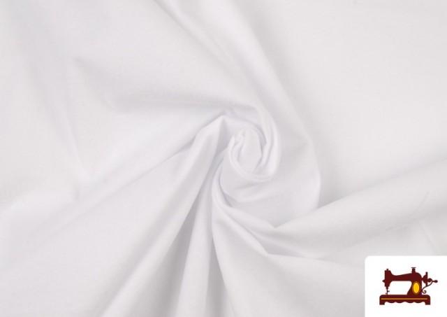 Acheter en ligne Tissu en Daim de Couleurs couleur Blanc