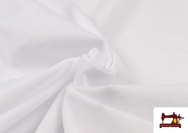 Tissu en Daim de Couleurs couleur Blanc