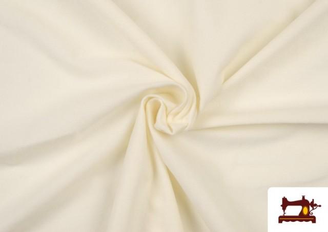 Vente de Tissu en Daim de Couleurs couleur Écru