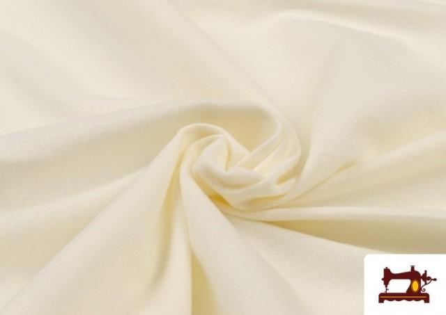 Vente en ligne de Tissu en Daim de Couleurs couleur Écru