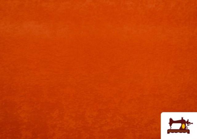 Tissu en Daim de Couleurs couleur Orange