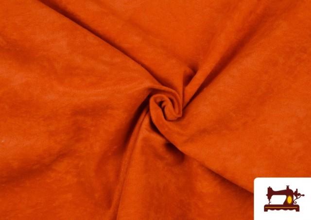 Acheter Tissu en Daim de Couleurs couleur Orange