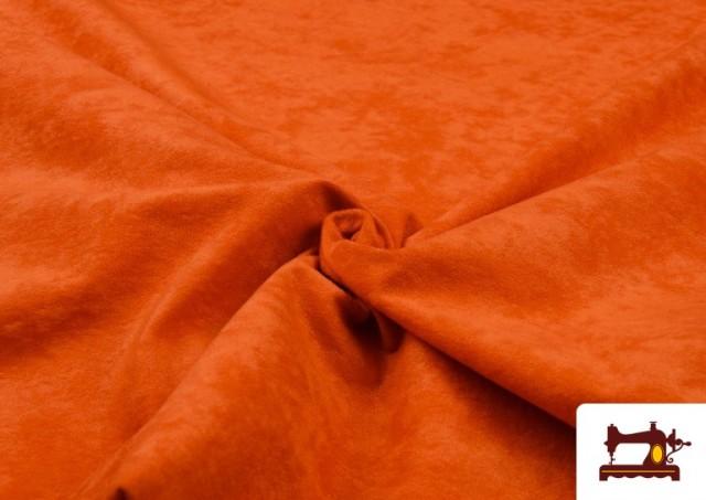 Vente de Tissu en Daim de Couleurs couleur Orange