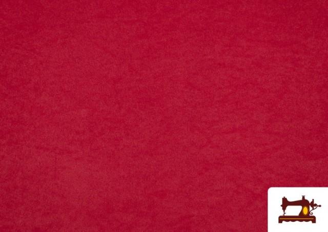 Tissu en Daim de Couleurs couleur Rouge