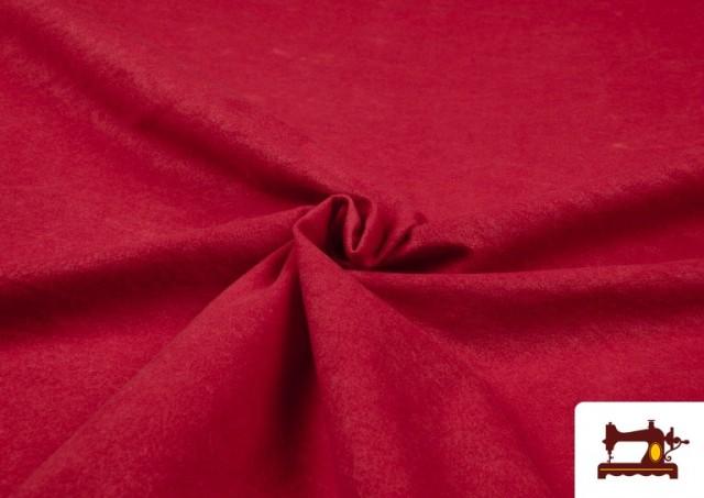 Acheter Tissu en Daim de Couleurs couleur Rouge