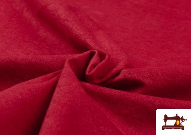 Vente de Tissu en Daim de Couleurs couleur Rouge