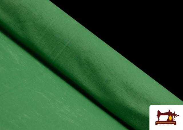Acheter en ligne Tissu en Daim de Couleurs couleur Vert