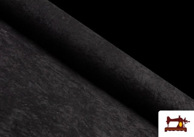 Vente de Tissu en Daim de Couleurs couleur Noir