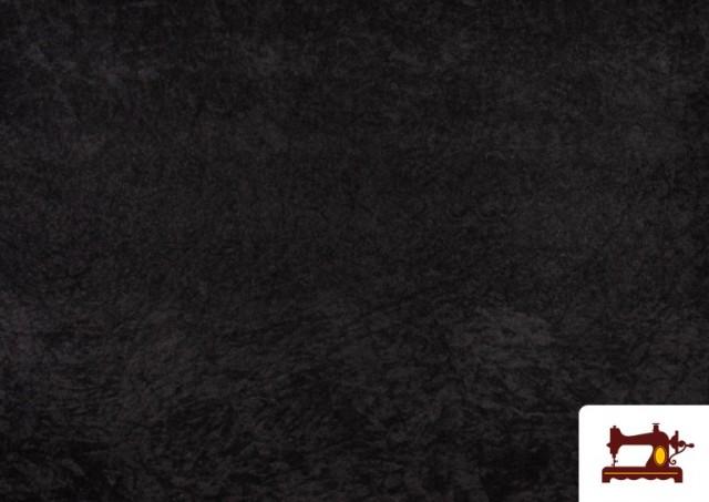 Acheter en ligne Tissu en Daim de Couleurs couleur Noir
