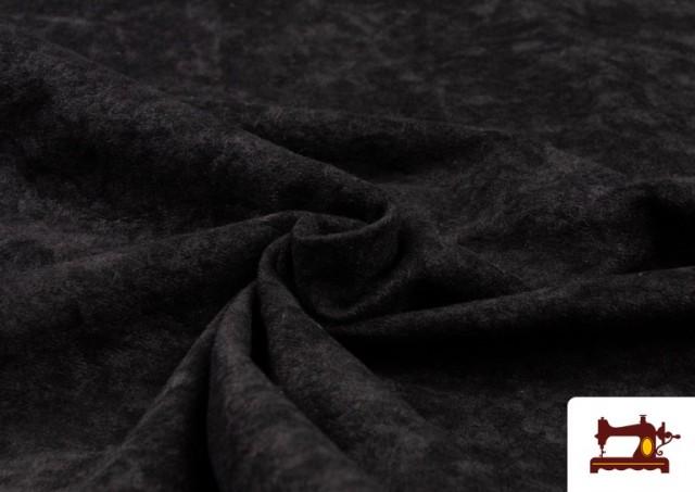 Tissu en Daim de Couleurs couleur Noir