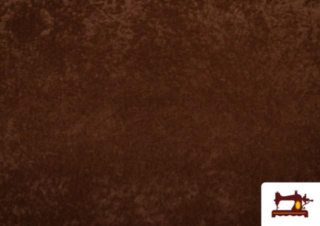 Vente de Tissu en Daim de Couleurs couleur Brun