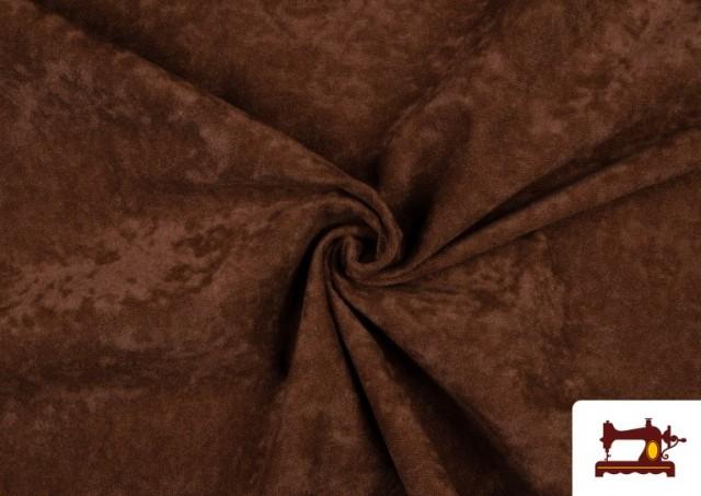 Acheter en ligne Tissu en Daim de Couleurs couleur Brun